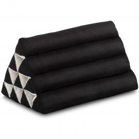 Thaikissen ohne Auflage, schwarz einfarbig