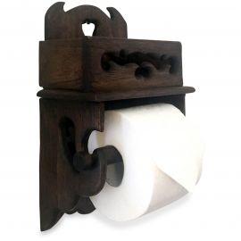 Toilettenpapierhalter mit Ablagefach für Smartphone und Utensilien