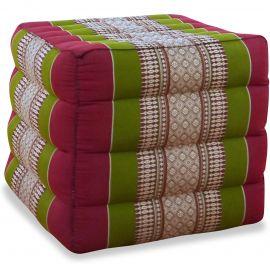 Würfel-Sitzkissen, rot / grün