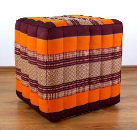 (Auslaufmodell) Nr.90 Würfel-Sitzkissen, orange, 55 cm x 45 cm