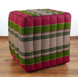 (Auslaufmodell) Nr.91 Würfel-Sitzkissen, rot / grün, 55 cm x 45 cm