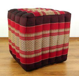 (Auslaufmodell) Nr.14 Würfel-Sitzkissen, rubinrot, 55 cm x 45 cm