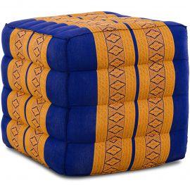 (B-Ware) Nr.115 Würfel-Sitzkissen, blau / gelb