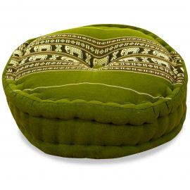 Zafukissen, Meditationskissen,  grün / Elefanten