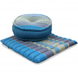 Kapok, Zafukissen mit großem Steppkissen L, hellblau
