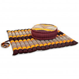 Kapok, Zafukissen mit extragroßem Steppkissen XL, orange