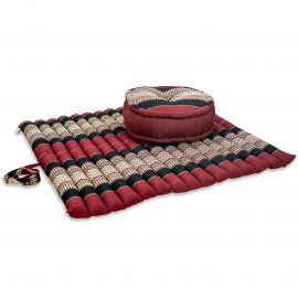 Kapok, Zafukissen mit extragroßem Steppkissen XL, rot-schwarz
