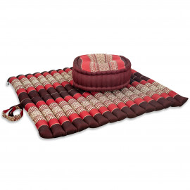 Kapok, Zafukissen mit extragroßem Steppkissen XL, rubinrot