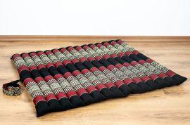 (B-Ware) Nr. 142 Kapok Sitzkissen, Gr. XL, gesteppt, schwarz / rot