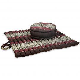 Kapok, Zafukissen mit extragroßem Steppkissen XL, weinrot
