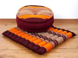 Kapok, Zafukissen mit großem Steppkissen L, orange