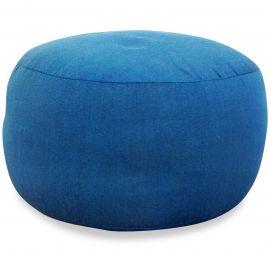 kleines Zafukissen, Yogakissen, einfarbig,  hellblau