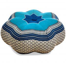 Zafukissen, Sitzkissen, großer Stern, blau