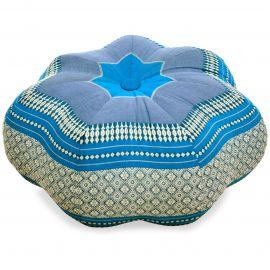 Zafukissen, Sitzkissen, großer Stern, hellblau