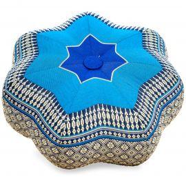 Zafukissen, Sitzkissen, kleiner Stern, blau