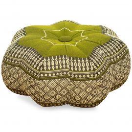 Zafukissen, Sitzkissen, kleiner Stern, grün