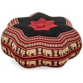 Zafukissen, Sitzkissen, kleiner Stern, rot / Elefanten