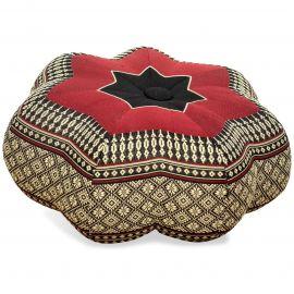 Zafukissen, Sitzkissen, kleiner Stern, schwarz / rot