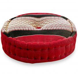 Zafukissen, Meditationskissen, rot / schwarz