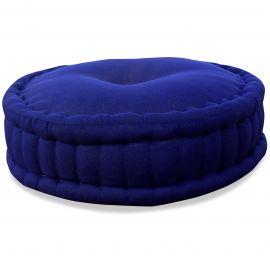 Zafukissen, Meditationskissen, einfarbig,  blau