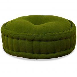 Zafukissen, Meditationskissen, einfarbig,  grün