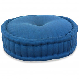 Zafukissen, Meditationskissen, einfarbig,  hellblau