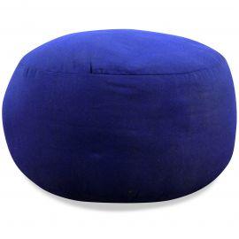 kleines Zafukissen, Yogakissen, einfarbig,  blau