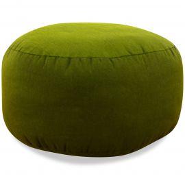 kleines Zafukissen, Yogakissen, einfarbig,  grün