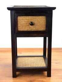 Asiatisches Rattanschränkchen  hoch mit 1 Schublade , Nr.46