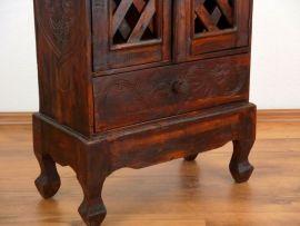 Balinesischer 4 türiger Schrank mit 1 Schublade, braun, Nr.224