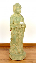 Buddha stehende Terrakottafigur, aus Java (Indonesien)