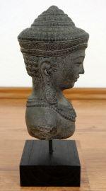 Buddha - Steinbüste, grau, klein, aus Bali (Indonesien)