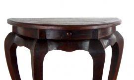 Halbrunder, asiatischer Tisch mit Schublade  (extra hoch)