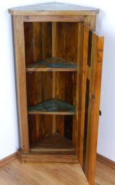 Java Eckschrank aus buntem, recycelten Teakholz/Bootsholz, Nr.374