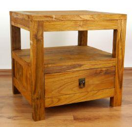 Java Teakholz-Nachttisch, im rustikalen Design,  Nr.307