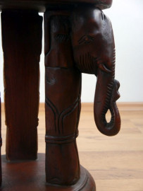 Massivholz Elefantenhocker  braun