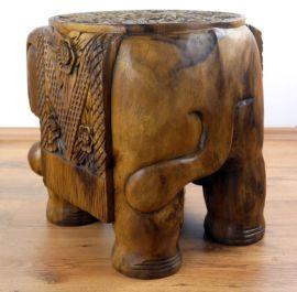 Massivholzhocker  kräftiger Elefant 40Kg