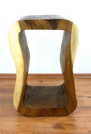 Massivholzsäule, asiatischer Loungetisch *natur*