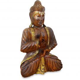 Bali, Buddha mit Gold-Verzierung, Vitarka Mudra, groß