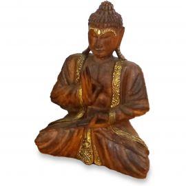 Bali, Buddha mit Gold-Verzierung, Vitarka Mudra, klein