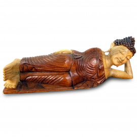 Ruheausstrahlender, liegender Buddha aus Bali, groß