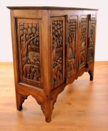 Massives Sideboard mit thailändischen Elefantenschnitzereien, Nr.12