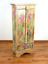 Naturfarbener, 2 türiger Schrank mit 1 Schublade aus Bali, Nr.205a