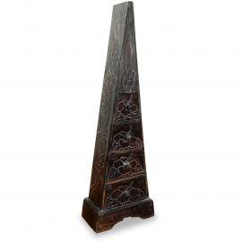 Schubladenkommode Pyramide aus Bali (Indonesien), dunkelbraun