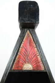 Balinesisches Bootsregal, Schränkchen, schwarz-bunt