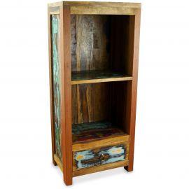 Java Teakholz-Regal aus recyceltem, bunten Bootsholz,  Nr.346