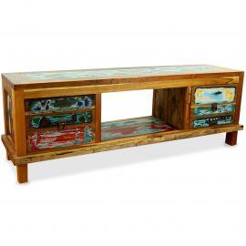 Java Teakholz-Sideboard aus recyceltem, bunten Bootsholz,  Nr.353