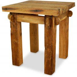 Java, Beistelltisch, Nachttisch aus recyceltem Teakholz, Nr.43