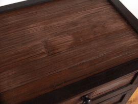 Kleine Bambus-Kommode mit 3 Schubladen, Nr.79