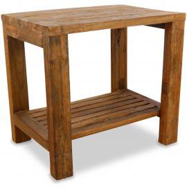 Java, Tisch / Nachttisch aus recyceltem Teakholz, Nr.79